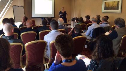 Helen Hammond delivers the FSPA's social media seminar