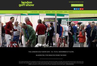 London Golf Show website