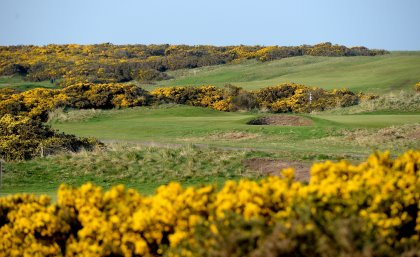 A general view of the par four 4th hole on the Montrose Medal Course at the Montrose Golf Links on April 28, 2014 in Angus, Scotland. (Photo by Ross Kinnaird/Getty Images)
