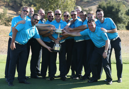 Great Britain & Ireland's victorious PGA Cup team (courtesy of Scott Halleran and Getty Images)