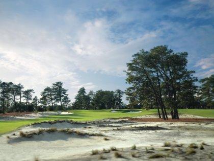 The 13th hole at Pinehurst's No.2 Course