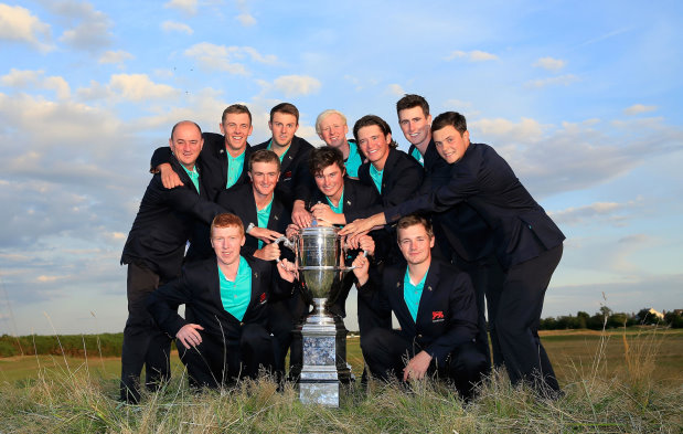 Winning GB&I Team with the Walker Cup