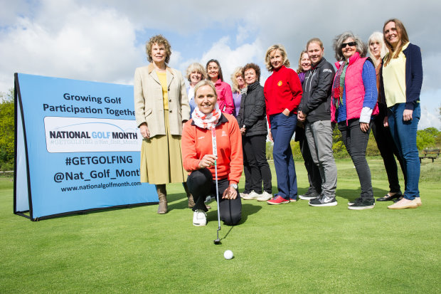 2015 National Golf Month; Carin Koch, Kate Hoey - MP for Vauxhall & London Sports Chair, Ciara Morgan – BGIA, Members of Wimbledon Golf Club