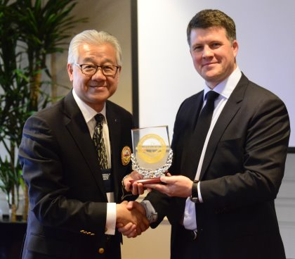 Rob Hill, right, Director of the Global Golf Advisors Institute for Best Practice; and Dr. Aylwin Tai, President of CMAA China Chapter