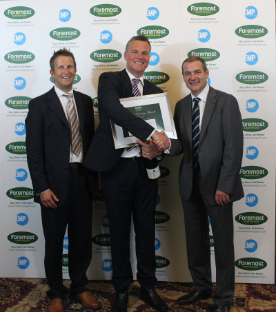 Andy Martin (Foremost Company Director - left) alongside Neil Parker (Motocaddy Sales Director) and Iain Carter (BBC Golf Correspondent)