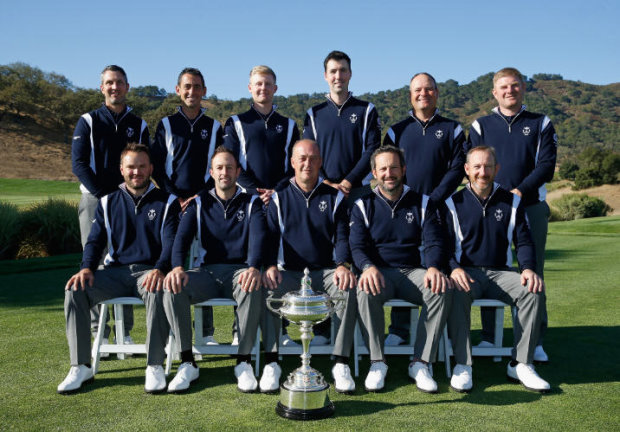 GB&I PGA Cup Team with trophy (Getty Images)