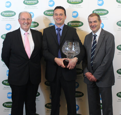 Professional of the Year Mark Rogers with Paul Hedges and Iain Carter