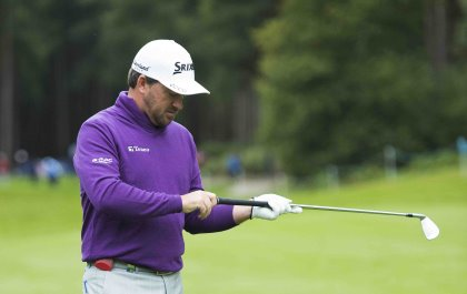 Graeme McDowell of Northern Ireland during a Pro-Am round ahead of the 2015 British Masters at the Graeme McDowell has been spotted testing the latest development in the GAME GOLF product range Picture: Richard Martin-Roberts | Golffile