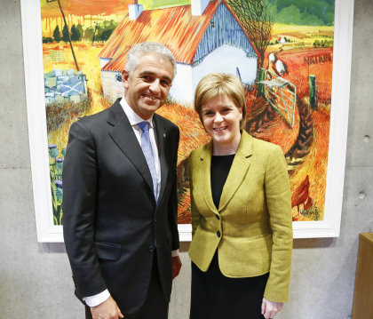 Ivan Khodabakhsh and Nicola Sturgeon