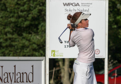 Georgia Hall, one of the players in action at the WPGA International Challenge at Stoke by Nayland (Picture courtesy of Adrian Milledge)