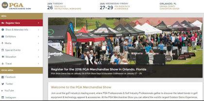 PGA Show website