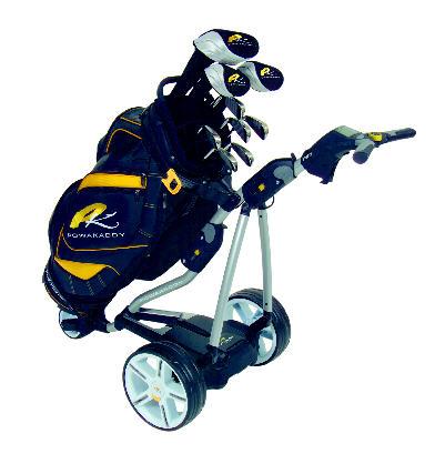PowaKaddy 8 FW7 silver trim li black yellow bag sng