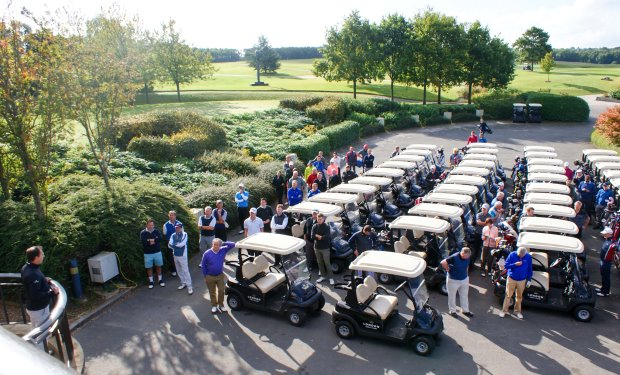 Eighteen teams are poised for action on a glorious day of weather at London Golf Club