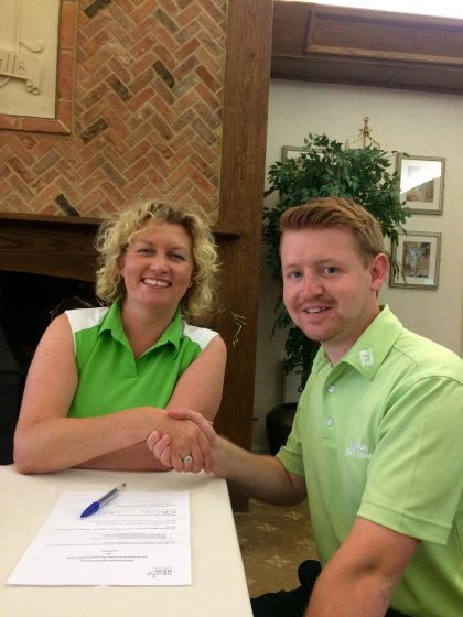 Simon Jones, Sales Director at Golf Show Group & Felicity Dunderdale from FORE! Women