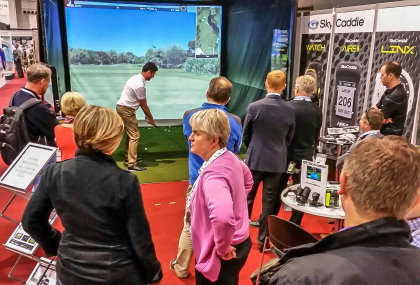 SkyTrak stand at Golf Trade Show 2015