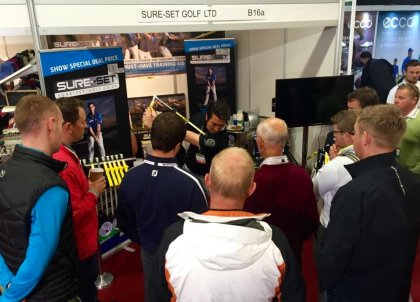 Sure-Set inventor Dan Frost drawing a crowd at The Golf Trade Show 2015