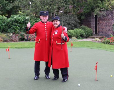 The new Huxley Golf Putting Green at Royal Hospital Chelsea