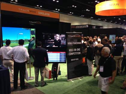 The TrackMan booth at The PGA Merchandise Show