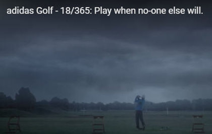 adidas Golf: play when noone else will