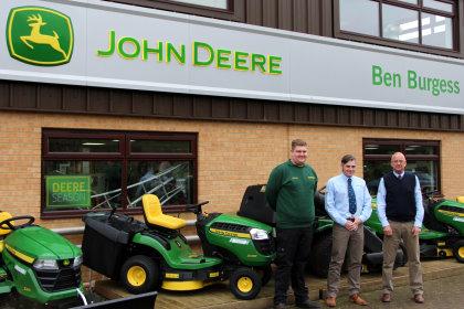 From left: Nathan Setchfield, Johnathan Harpham and Ben Burgess Coates branch manager Steve Trostler.