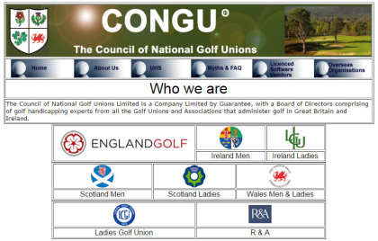 CONGU website page