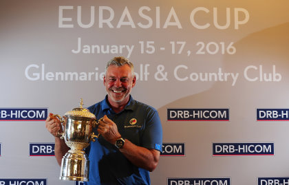 Darren Clarke at the Press Briefing for the Eurasia Cup 2016 (pic by Khalid Redza /Asian Tour)