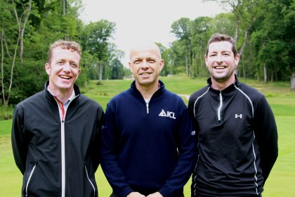 from left: Andrew Wood, Avoncrop Amenity: Michael Fance, Technical Support Officer and South-East Area Sales Manager for Everris, part of the ICL group; and Dan O'Rourke, Course Manager