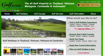 Golfasian website