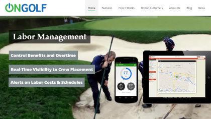 OnGolf website screenshot