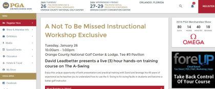 PGA Show Leadbetter page