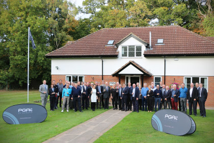 Guests and official representatives at the opening of the PGAs of Europe's new Headquarters at The Belfry, Hunters Lodge