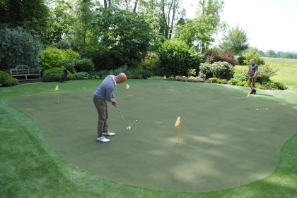 Huxley Golf's synthetic greens have proved a popular addition to the back gardens of many an enthusiastic golfer