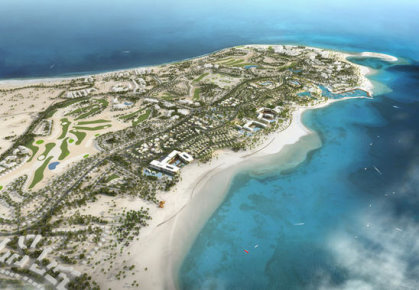 An artist's impression of the completed Soma Bay Resort on Egypt's Red Sea coast