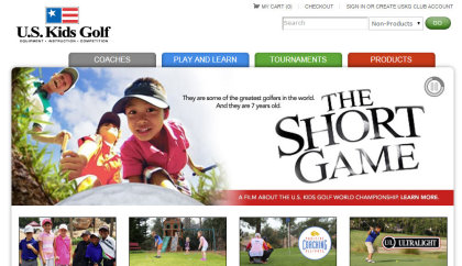 US Kids Golf website