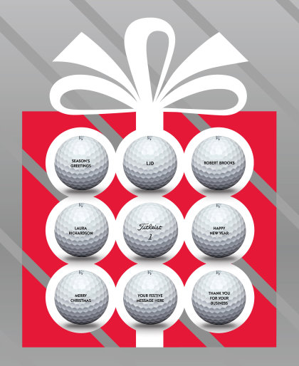 2015 Titleist Free Christmas Golf Ball Personalisation