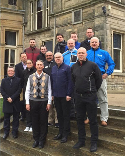 The delegates pictured outside the R&A Clubhouse