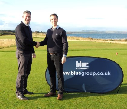 Fraser Cromarty (left) and Daniel Tomlinson, Group Marketing Manager, Blue Group