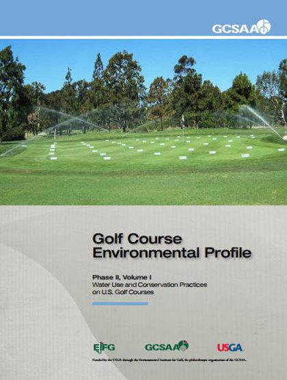 GCSAA Water Use survey