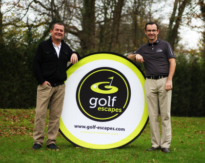 Jon Ruben (left), Managing Director of Golf Escapes and Mike Yorke, Founder, MY Golf Academy