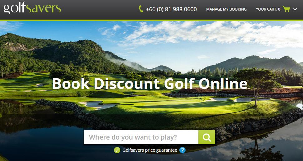 Golfsavers website