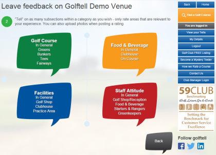 Golftell demo-leave-feedback