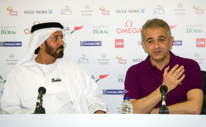 Ivan Peter Khodabakhsh, Chief Executive Officer, Ladies European Tour (right) with Mohamed Juma Buamaim, Vice Chairman & CEO, golf in DUBAI
