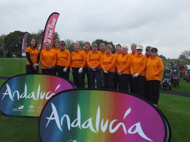 Red Tee Tour ladies only golf tournament. The winners go to Andalucía