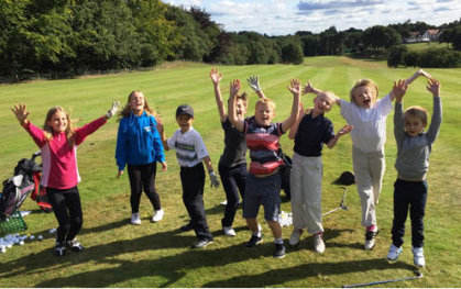 Juniors learning to enjoy golf at Sandiway Golf Club in Cheshire