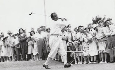 Sarazen 1941 (courtesy  of  the  World  Golf  Hall  of  Fame  and  Getty  Images)