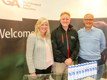 Tracey and David Parry with Jamie Cundy (centre) - courtesy of Adrian Milledge