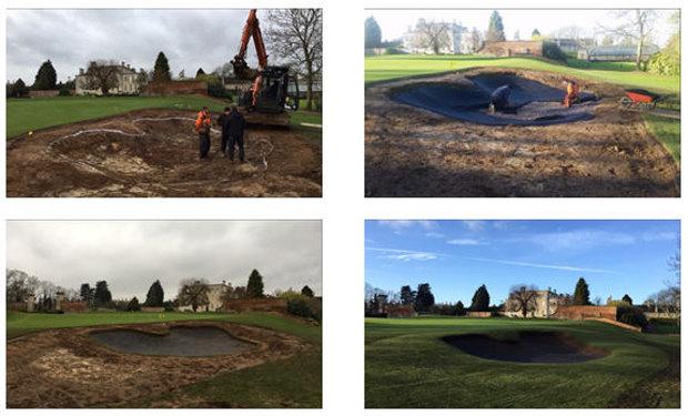 Wellingborough Golf Club bunker montage