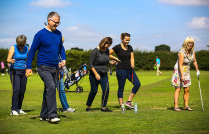 Alastair Spink with love golf group