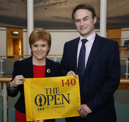 First Minister Nicola Sturgeon and Johnnie Cole-Hamilton, The R&A's Executive Director - Championships