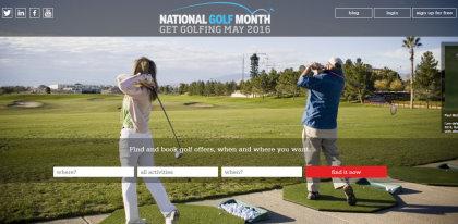 National Golf Month website screen grab